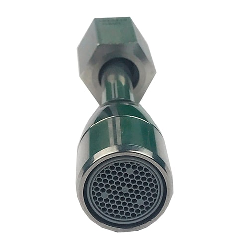 Conventional water wand for professional coffee machines with aerator
