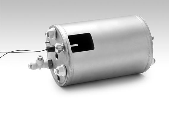 An Italcoppie boiler probe inserted into a coffee machine boiler